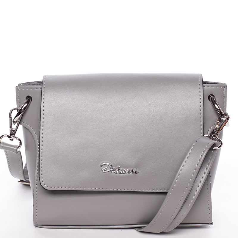 Trendy dámská crossbody kabelka šedá - Delami Jasen