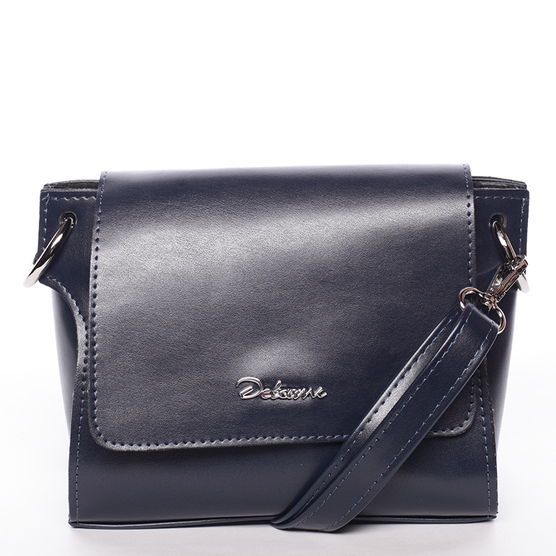 Trendy dámská crossbody kabelka tmavě modrá - Delami Jasen