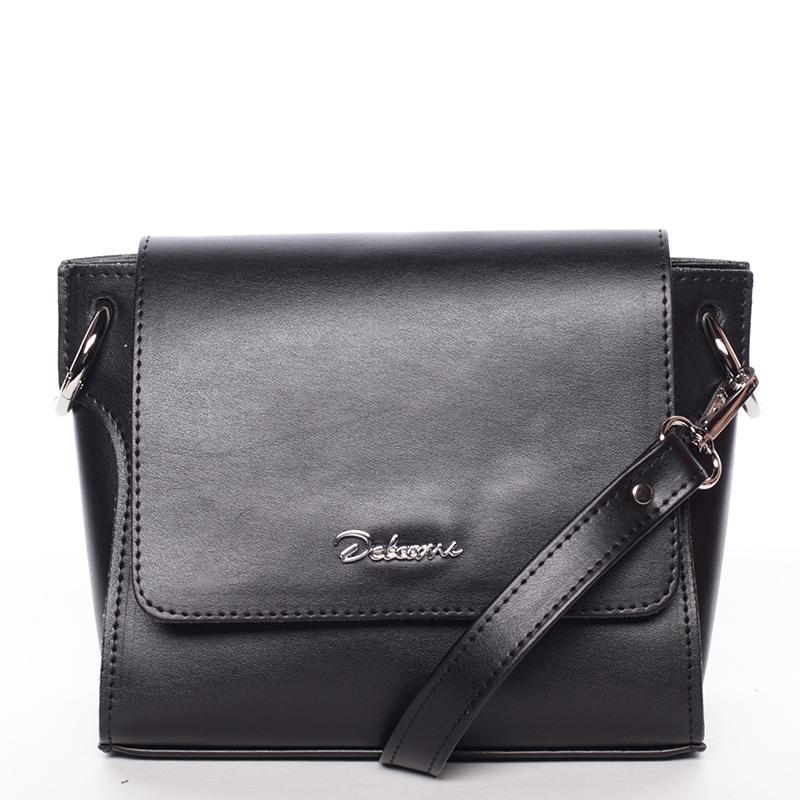 Trendy dámská crossbody kabelka černá - Delami Jasen