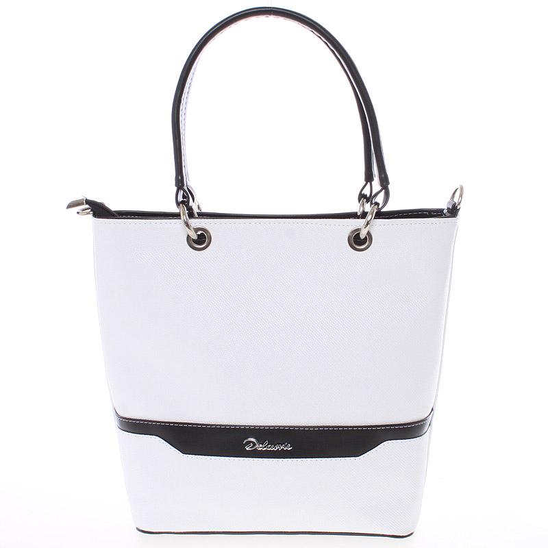 Elegantní dámská kabelka bílo černá saffiano - Delami Samanta
