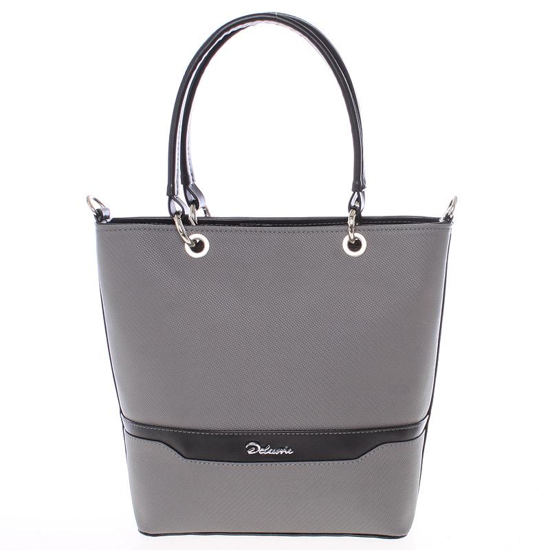Elegantní dámská kabelka šedo černá - Delami Samanta