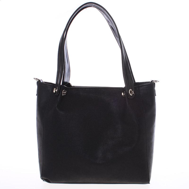 Větší dámská černá kabelka - Delami Ileana