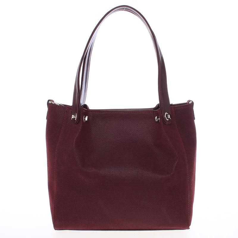 Větší dámská vínová kabelka - Delami Ileana