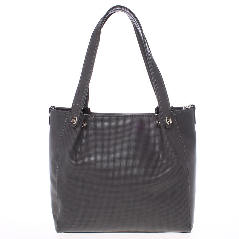 Větší dámská tmavě šedá kabelka - Delami Ileana