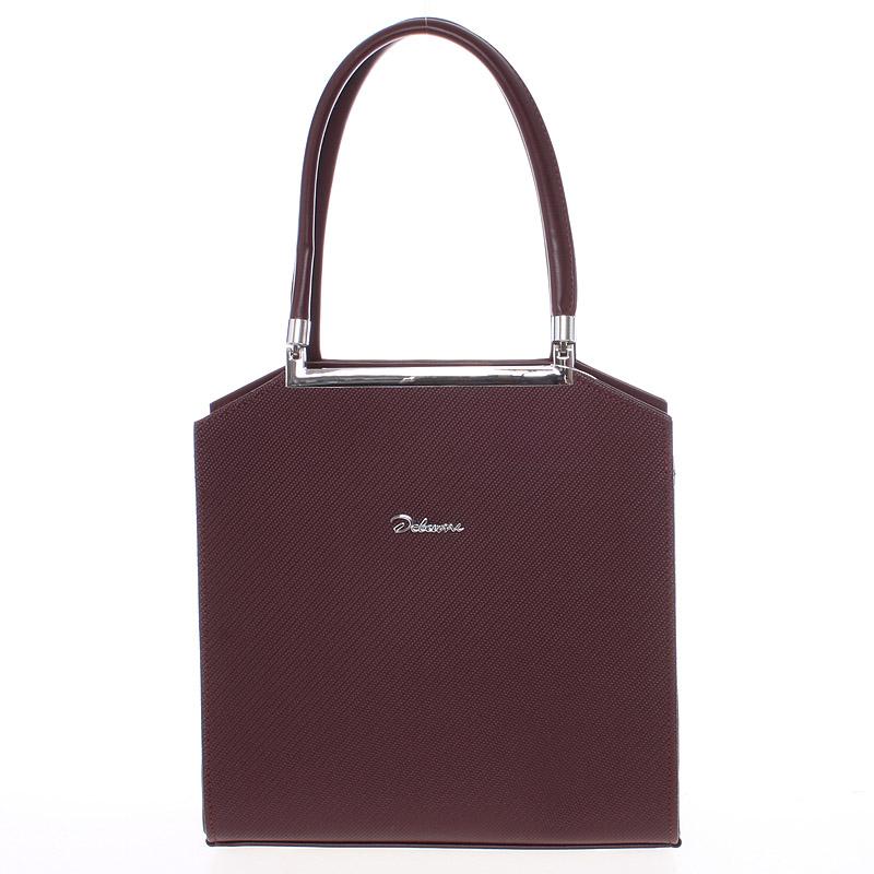 Originální dámská kabelka do ruky vínová - Delami Chereen