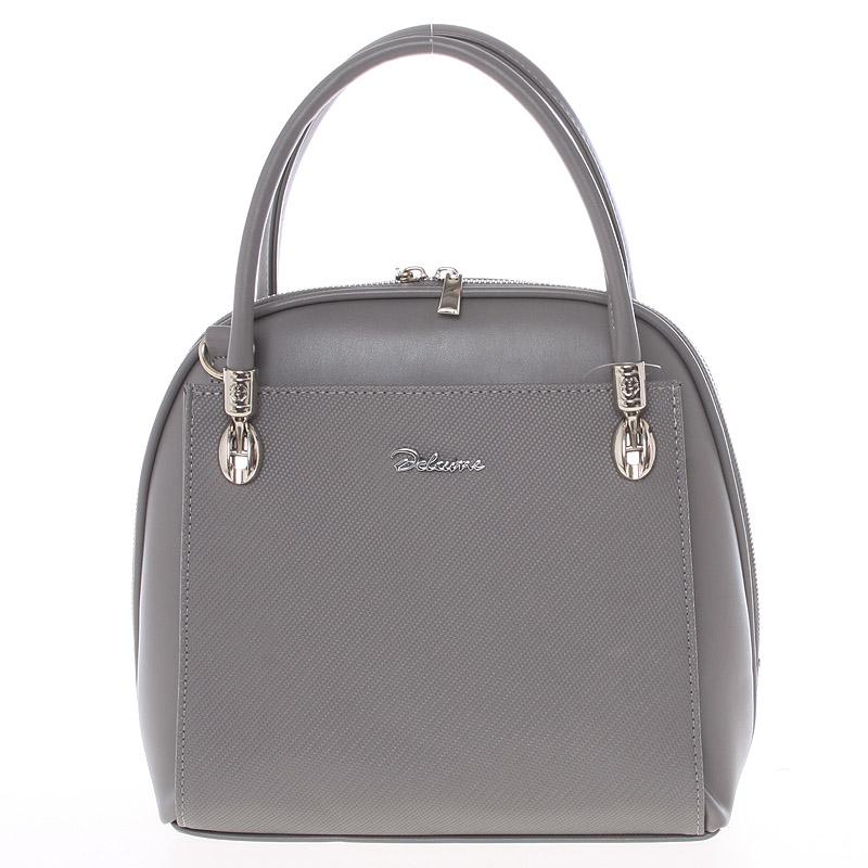 Dámská kabelka šedá saffiano - Delami Florencia