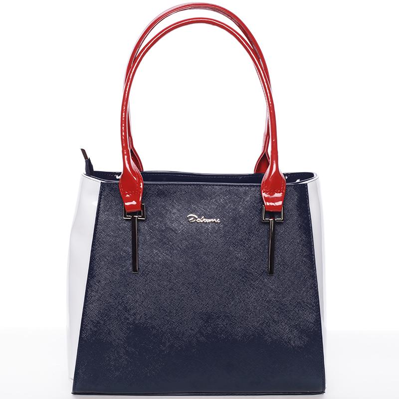 Trendy kabelka přes rameno modro červeno bílá - Delami Aceline