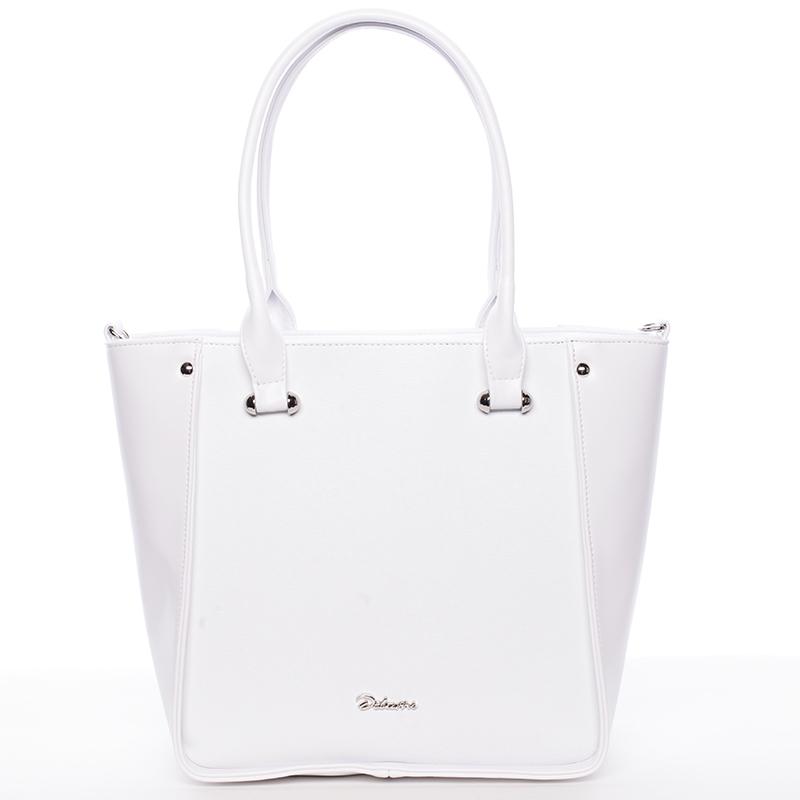 Dámská elegantní kabelka přes rameno bílá - Delami Merci