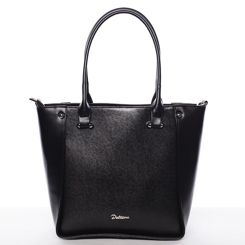 Dámská elegantní kabelka přes rameno černá - Delami Merci