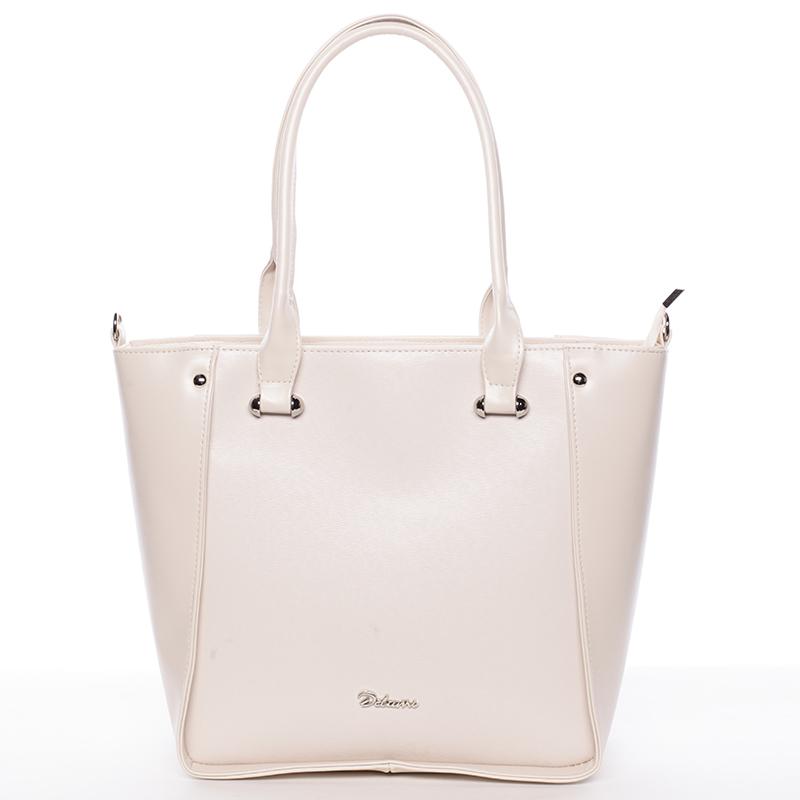 Dámská elegantní kabelka přes rameno béžová - Delami Merci
