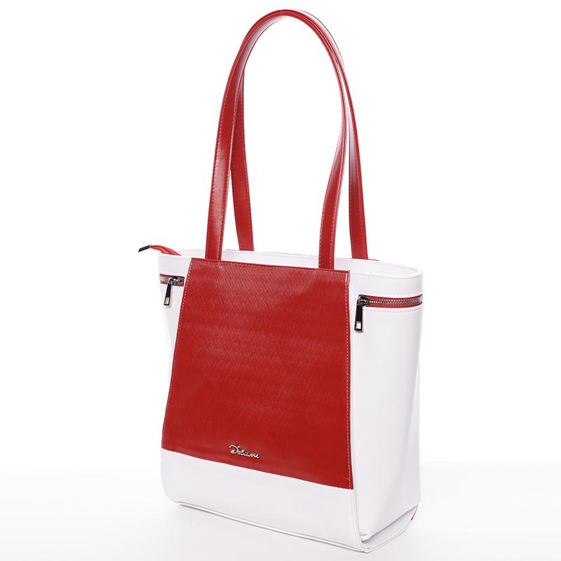 Elegantní kabelka přes rameno červeno bílá - Delami Tallis