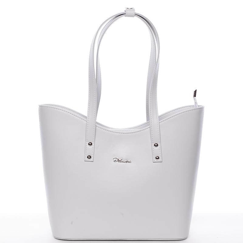 Dámská luxusní kabelka přes rameno světle šedá - Delami Alexia