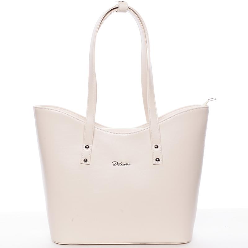 Dámská luxusní kabelka přes rameno béžová - Delami Alexia