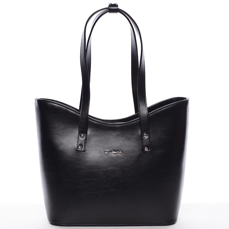 Dámská luxusní kabelka přes rameno černá - Delami Alexia
