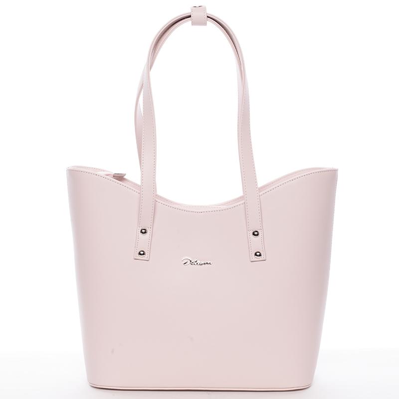 Dámská luxusní kabelka přes rameno růžová - Delami Alexia