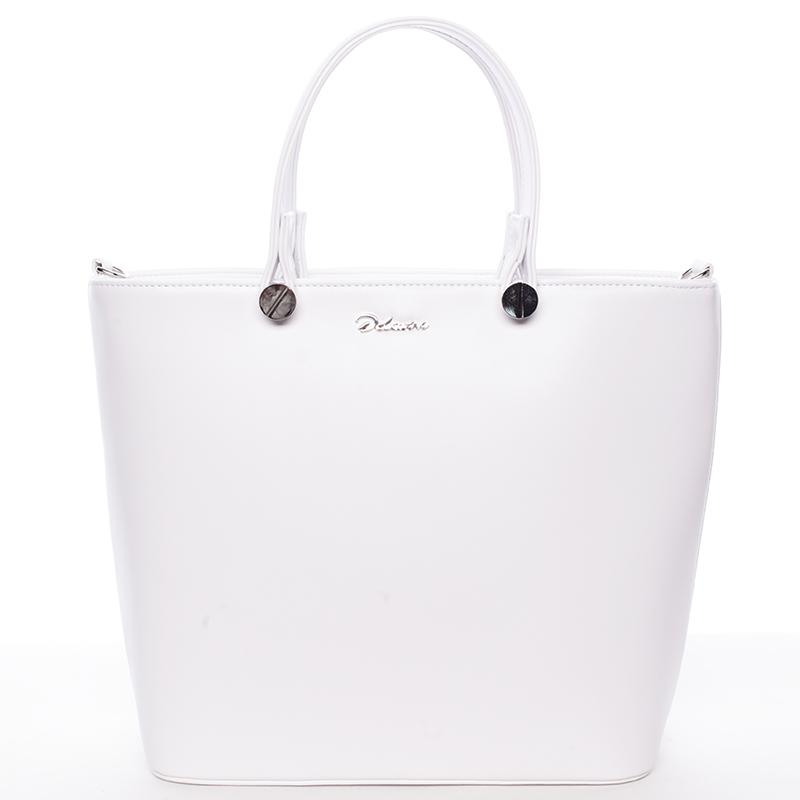 Luxusní dámská kabelka bílá - Delami Chantal