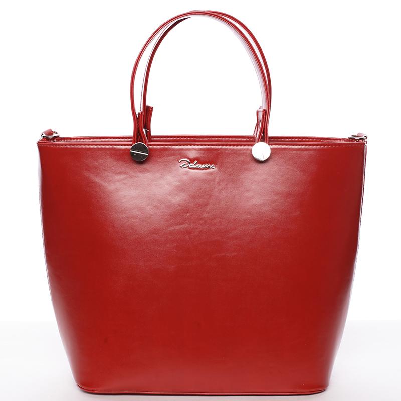 Luxusní dámská kabelka červená - Delami Chantal