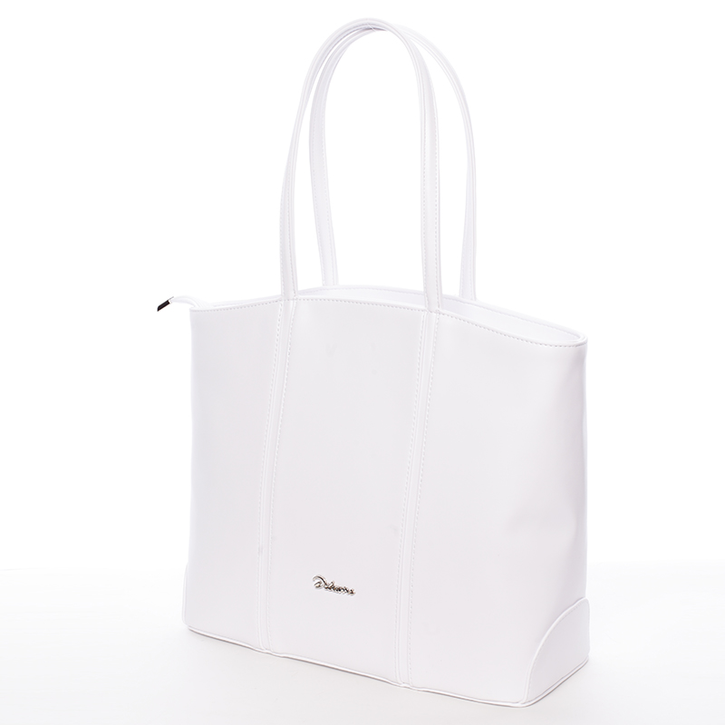 Dámská luxusní kabelka přes rameno bílá - Delami Yvonne