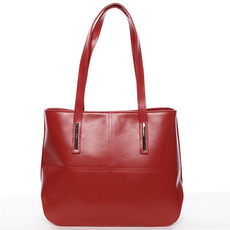 Dámská luxusní kabelka přes rameno červená - Delami Leonela