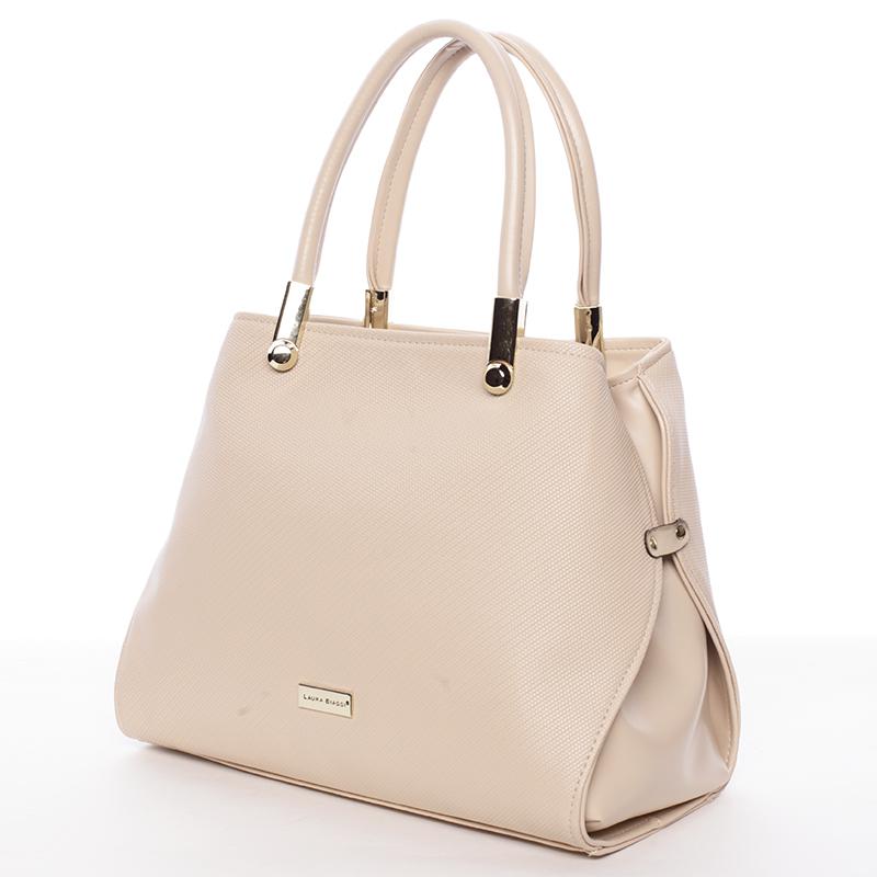 Dámská luxusní kabelka béžová - Delami Laura Biaggi