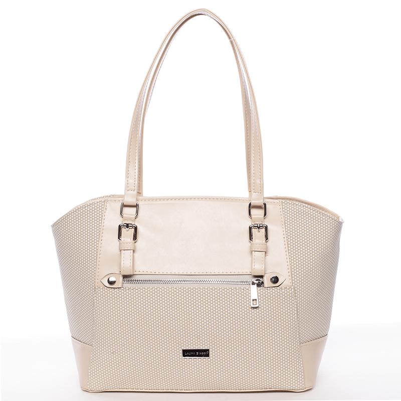 Luxusní béžová dámská kabelka přes rameno - Delami Berry