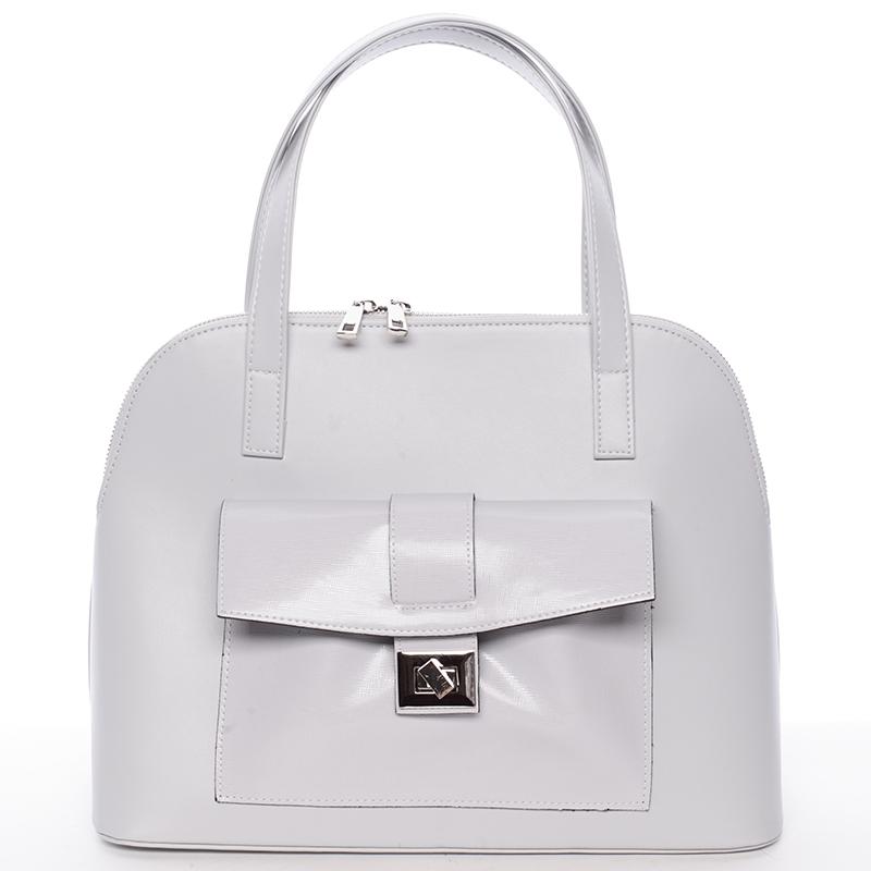 Módní dámská kabelka do společnosti šedá - Delami Victorine
