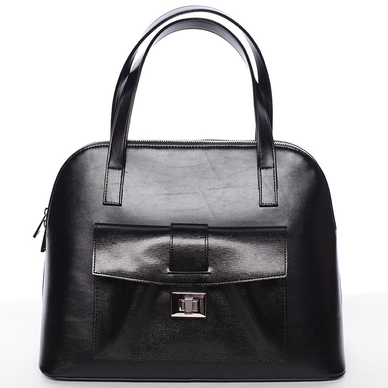 Módní dámská kabelka do společnosti černá - Delami Victorine