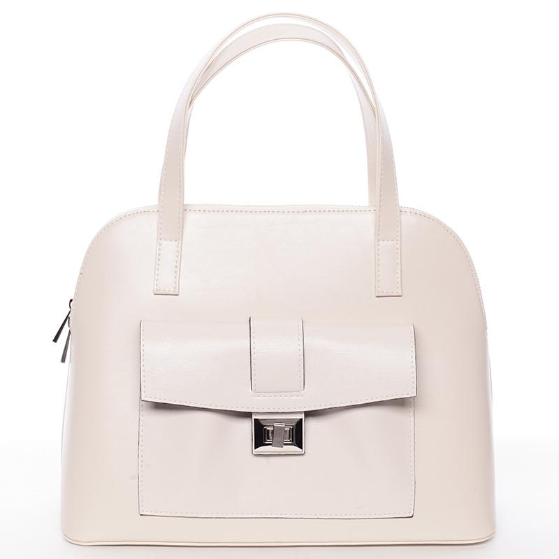 Módní dámská kabelka do společnosti béžová - Delami Victorine
