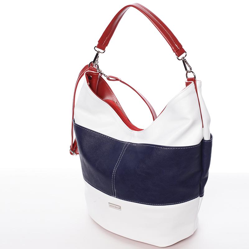 Elegantní bílo modro červená dámská kabelka přes rameno - Delami Shakira