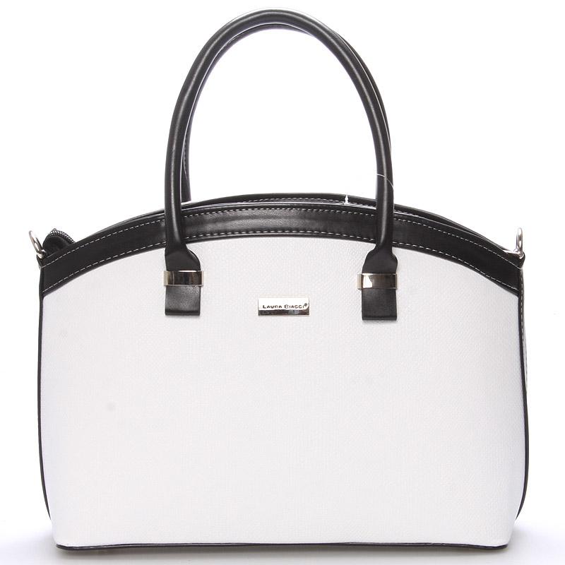 Elegantní bílo černá dámská kabelka do společnosti - Delami Renee