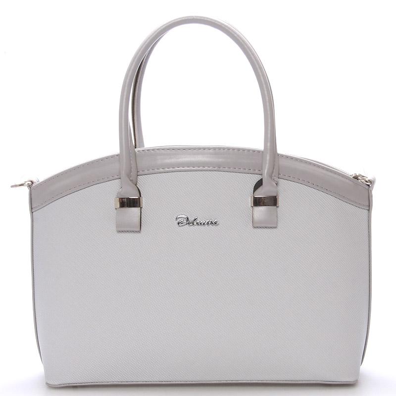 Elegantní světle šedá dámská kabelka do společnosti - Delami Renee