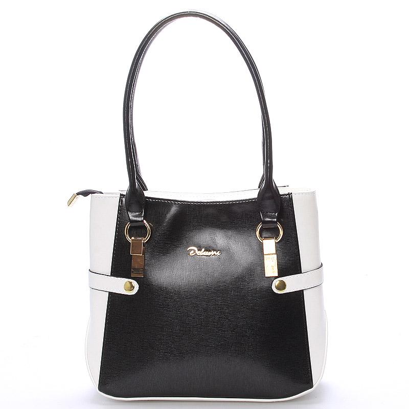 Dámská kabelka přes rameno černo bílá - Delami Chayse