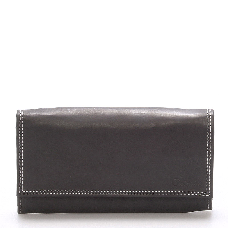 Dámská kožená peněženka černá - Delami Guara