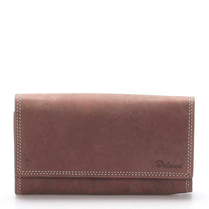 Dámská kožená peněženka hnědá - Delami Guara
