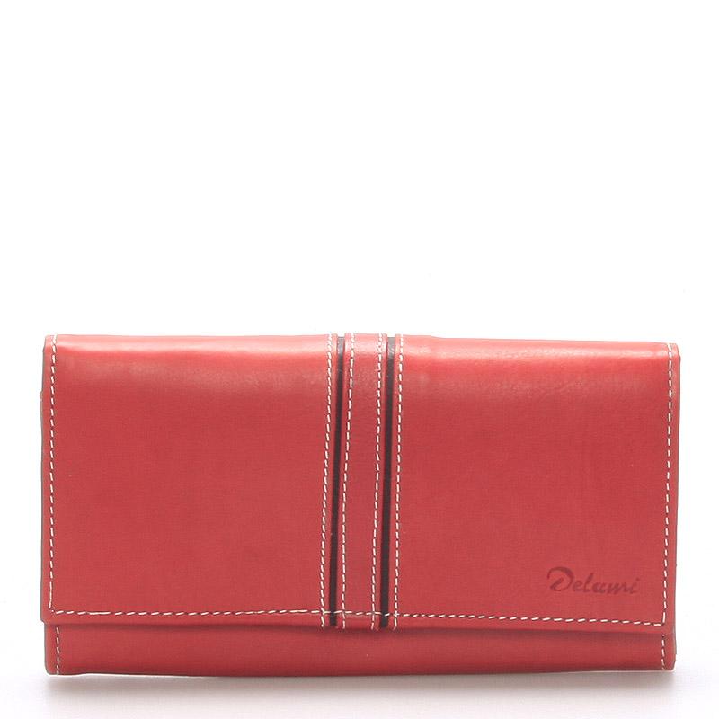 Dámská kožená peněženka červená - Delami Lestiel
