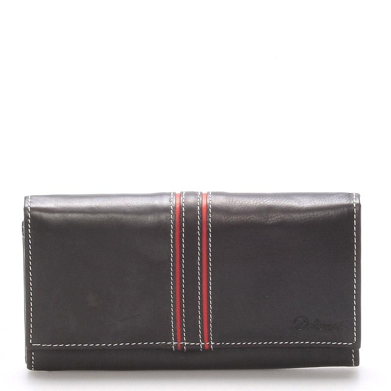 Dámská kožená peněženka černá - Delami Lestiel