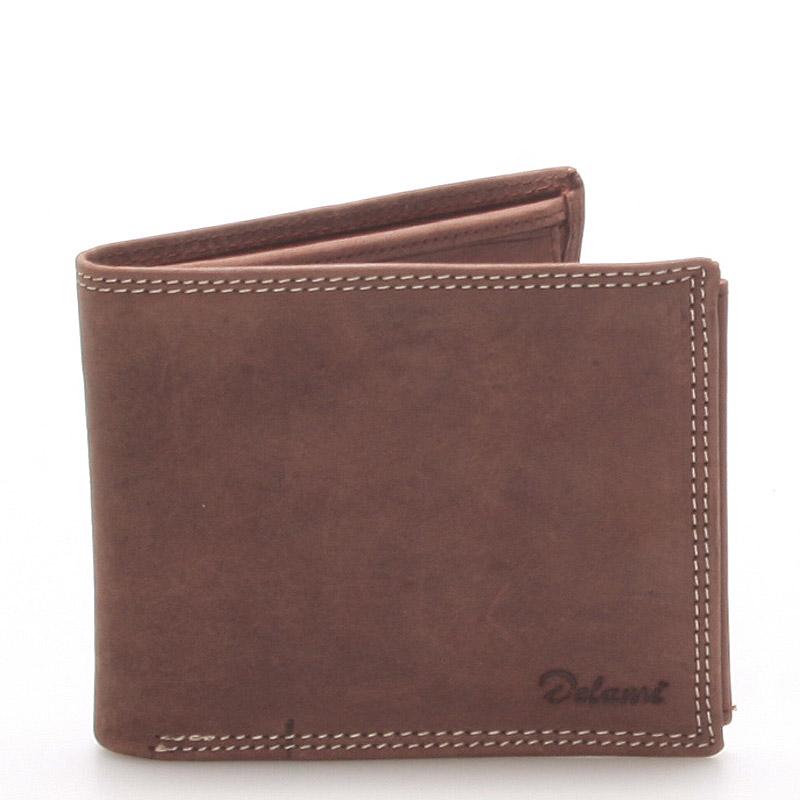 Pánská kožená peněženka hnědá - Delami NoNuppi