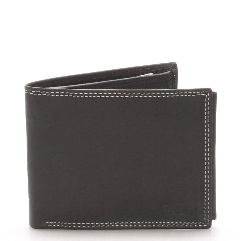 Pánská kožená peněženka černá - Delami NoNuppi