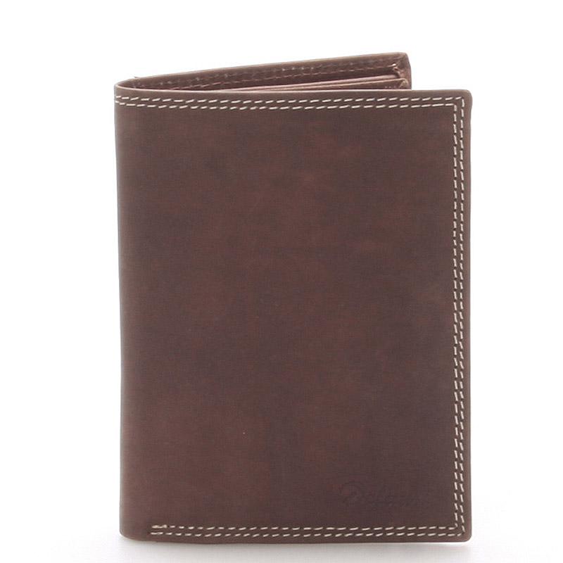 Pánská kožená peněženka hnědá - Delami Tui