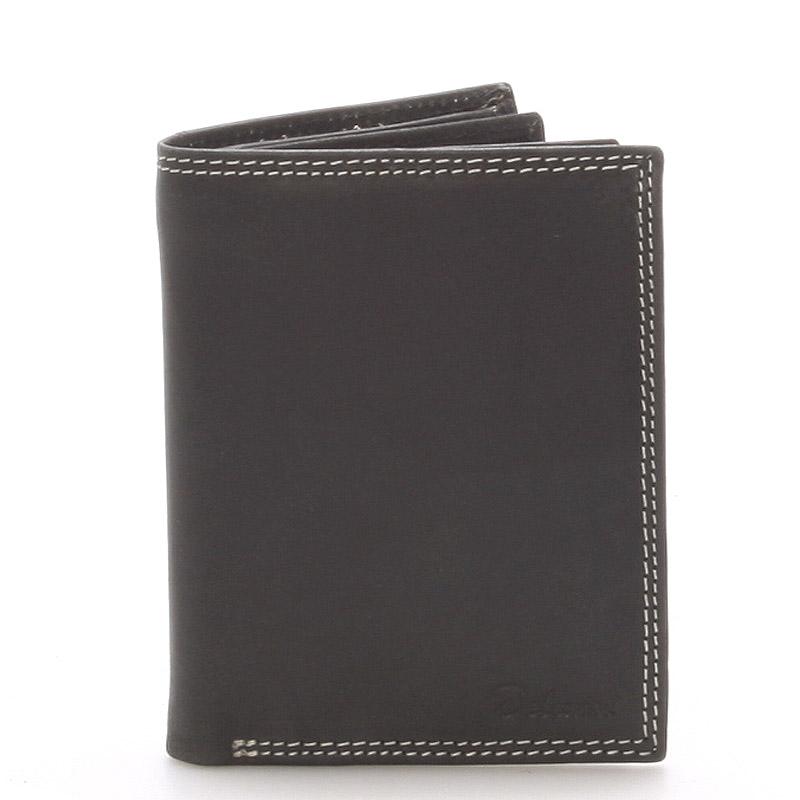 Pánská kožená peněženka černá - Delami Tui