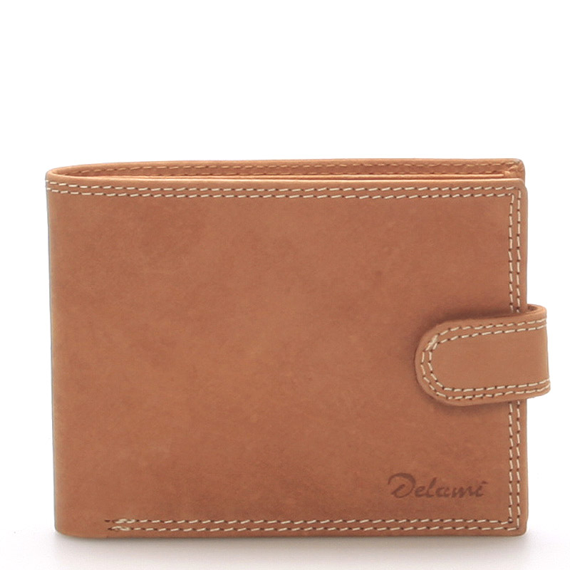 Pánská kožená peněženka hnědá - Delami Siri