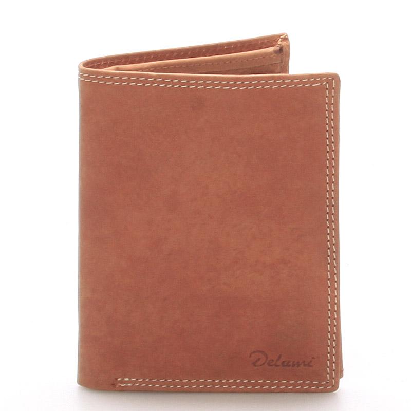 Pánská kožená peněženka světle hnědá - Delami Matt