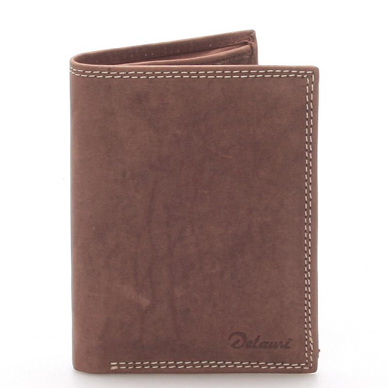 Pánská kožená peněženka hnědá - Delami Matt