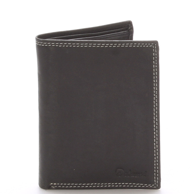 Pánská kožená peněženka černá - Delami Matt