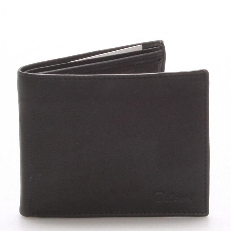Pánská kožená černá peněženka - Delami 8322