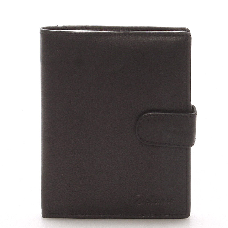 Pánská kožená černá peněženka - Delami 8703