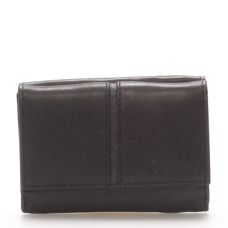 Kožená černá peněženka - Delami 9386