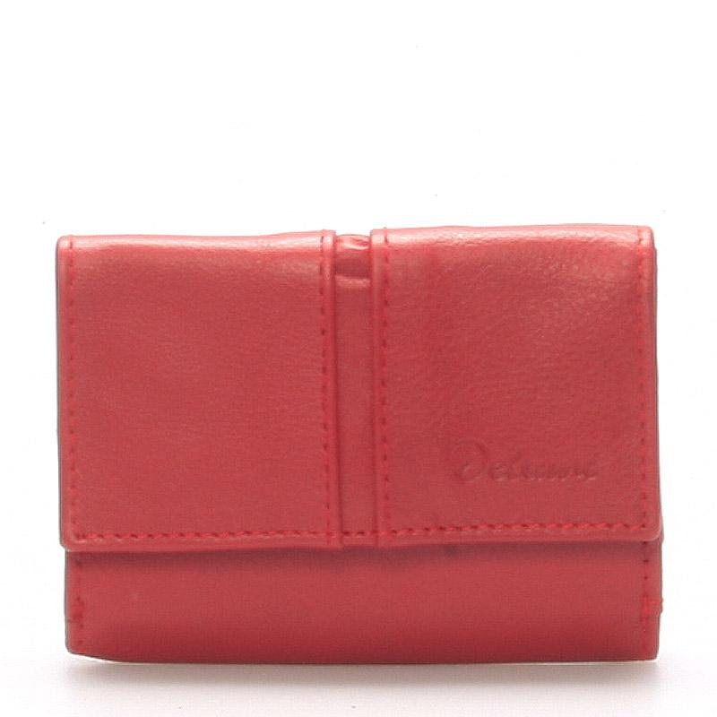 Kožená červená peněženka - Delami 9386