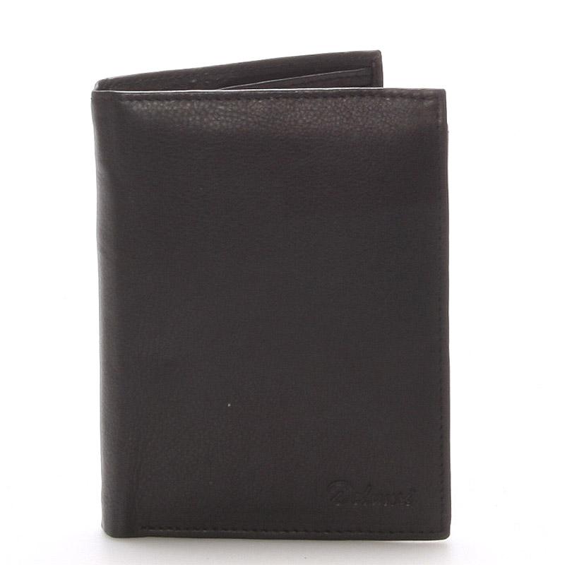 Pánská kožená černá peněženka - Delami 8229