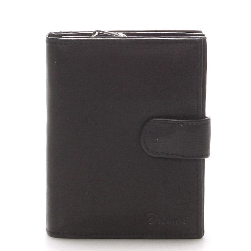 Kožená peněženka černá - Delami 101